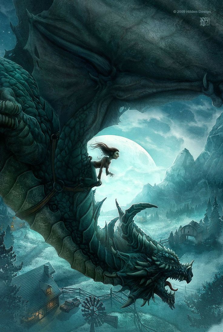 Dragón y jinete, de Kerem Beyit