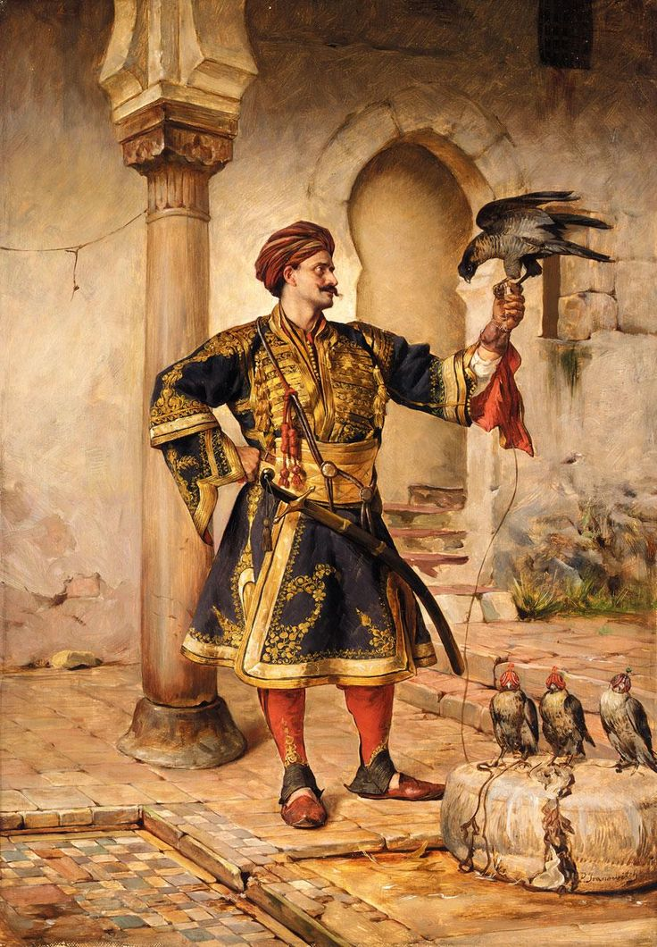 Paja Jovanovic (Serbian, 1859-1957). Falconer, between 1890-95