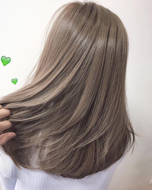 💚kayoko color💚〜外国人風〜 色味をしっかりといれた透明感のあるcool color💚💚💚 グレーベージュとは、また違うんです😋💚 #LAKing_secret #LAKing#お洒落#外国人風#ヘアカラー#ブリーチカラー#グラデーションカラー#美容院#ファッション #color#gradation#haircolor#hairsalon#fashion#bleachcolor#cool