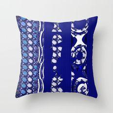 Blue serie#3 Throw Pillow