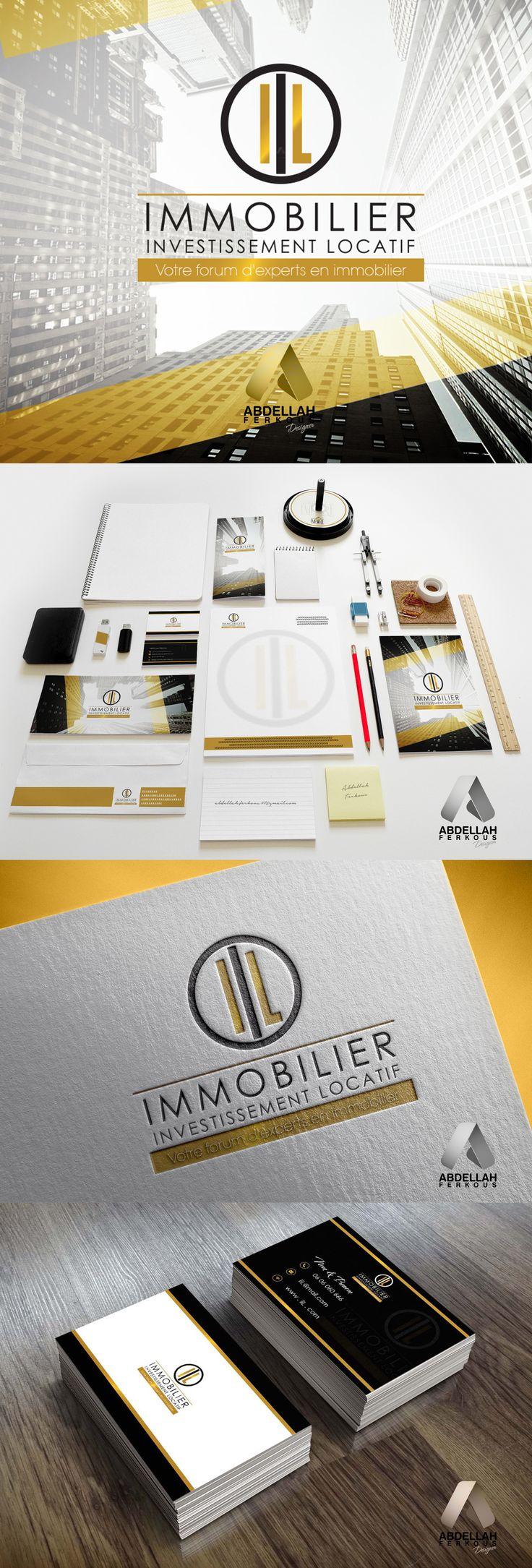Immobilier logo + identité visuelle