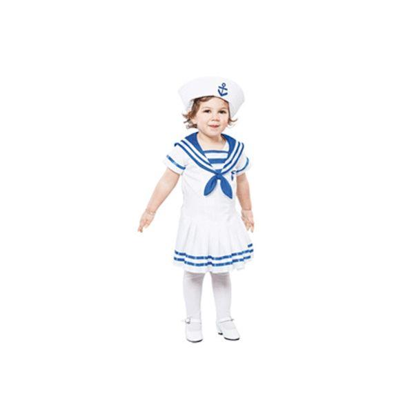 Matrozen jurkje voor een peuter. Voordelige jurkje van een matroos voor peuters in de leeftijd van 2 tot 4 jaar. Totale lengte van het jurkje is ongeveer 92-104 cm. Inclusief hoedje. Carnavalskleding 2015 #carnaval