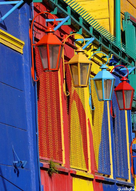 Bright colors seem to be synonymous with Buenos Aires, Argentina - especially the neighborhood of La Boca and the small caminito street that draws people from world wide. It's like walking through a childhood box of Crayolas.