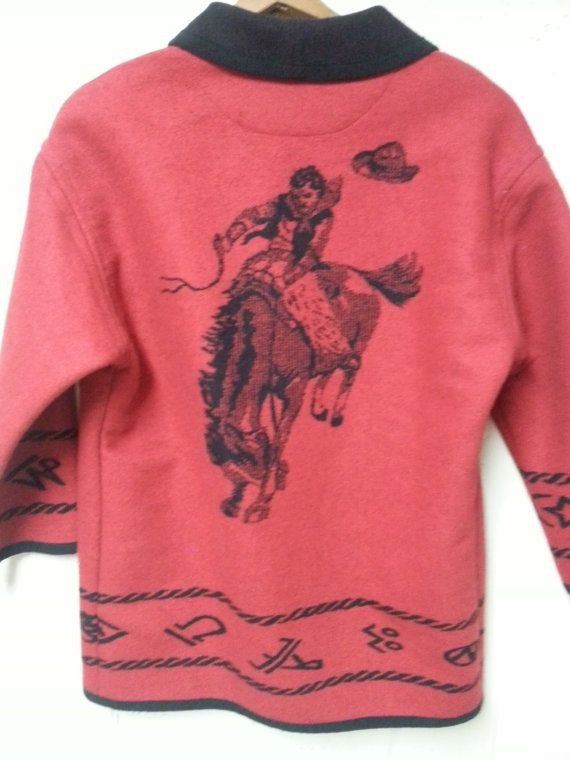Pendleton Knockabout Cowboy Coat Red and Rad by vitch on Etsy