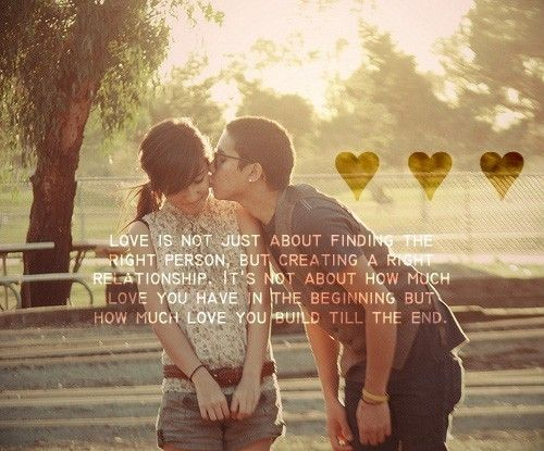 Love is not just about finding the right person, but creating a right relationship. Its not about how much love you have in the beginning but how much love you build till the end. #ohlovequotes