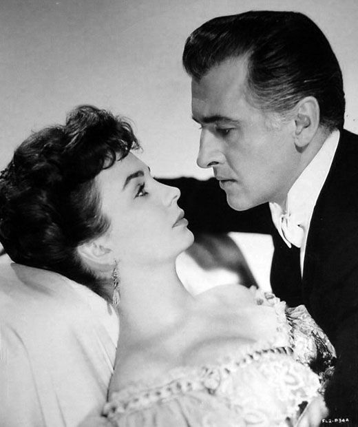 Jean Simmons & Stewart Granger ~ Two very popular British actors, who succeeded very well in Hollywood.  Simmons and Granger were married in Tucson, Arizona in 1950 ~ Granger was 37 & Simmons was 21. In 1956, they became U.S. citizens.  They were married for 10 years, and had 1 daughter together.