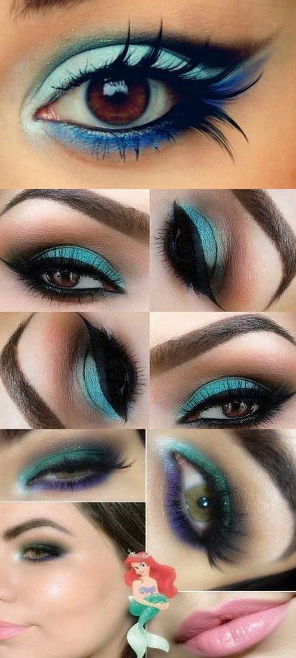 Blue Eye Makeup For Brown Eyes Tutorial