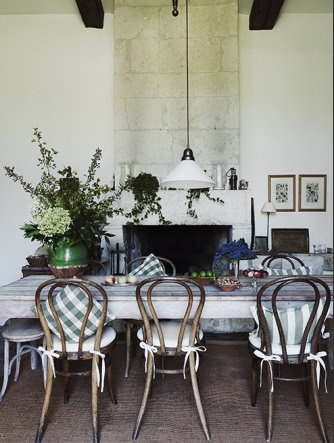: Dining Rooms, White Table, Floral Arrangement