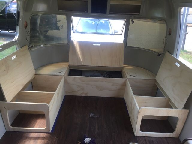 Front Seating Layout Idea Airstream Wrap Around Seating Pinterest Buses Gaucho And Bed In