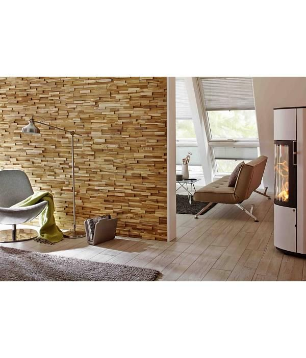 Rebel of Styles Houtstrip 3D Woodpanel UltraWood Teak Firenze