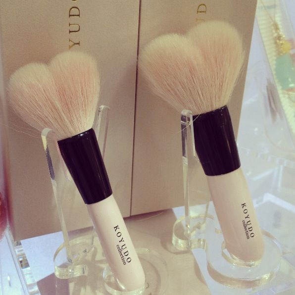 Koyudo's heart shaped brush collection is the absolute cutest! <3