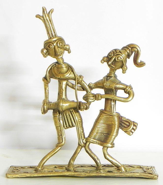 Santhal Folk Dancers (Brass)) Dhokra from Bastar, Madhya Pradesh