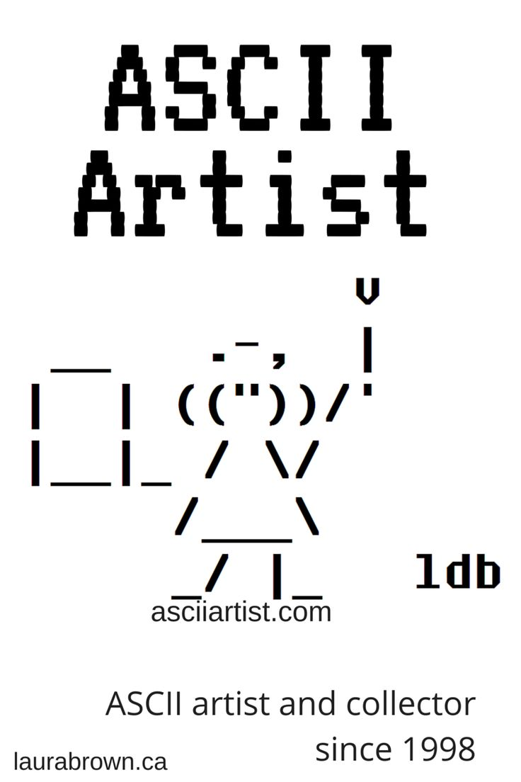 One Line Ascii Art Confused : Best ideas about ascii art on pinterest line