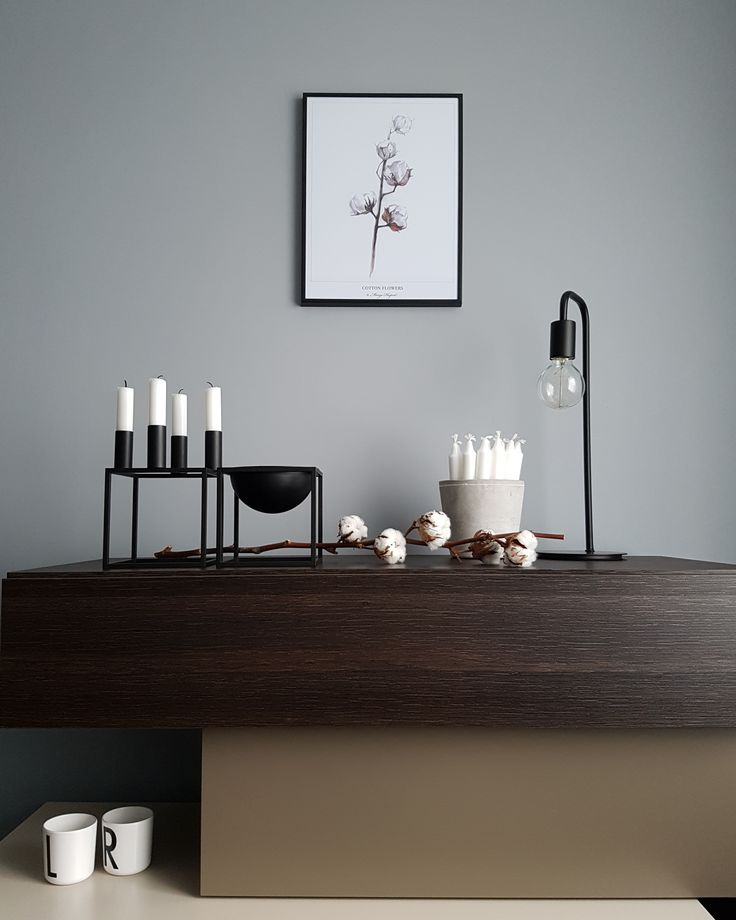 Moja ulubiona aranżacja 😊 #margohupert #poster #cottonflower #ikea #frame #stromby #meblevox #bylassen #kubus4 #kubusbowl #candles #flower #pot #concrete #menuworld #lamp #industriallamp #designletters #mug #cup #homedecor #passion #iloveit