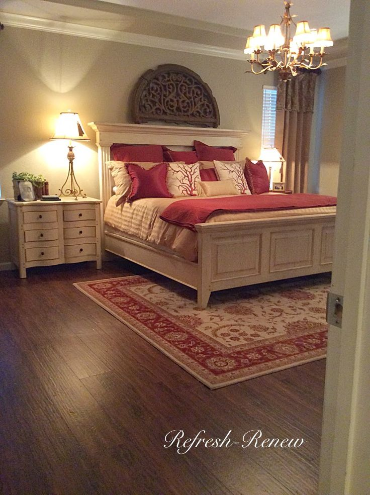 Master Bedroom reveal-(New Floors!)