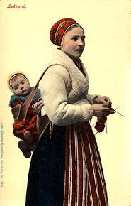 Swedish knitter. Leksand, Dalarna.