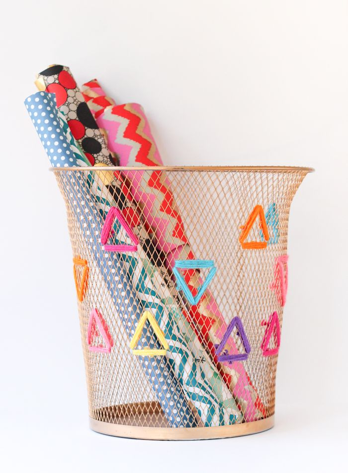 Embroidered Paper Bin by the Crafted Life