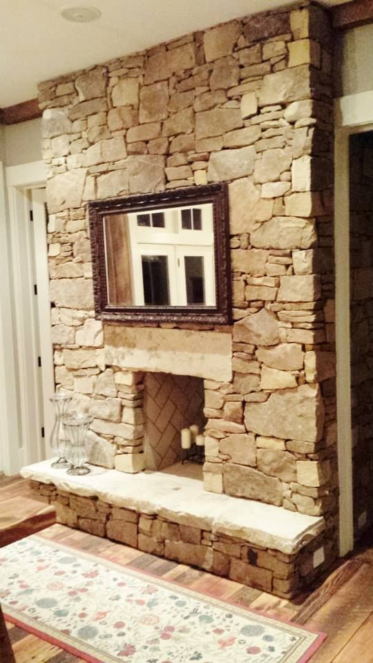 Tennessee Fieldstone Fireplace : Curated fireplace ideas by kwpayne high ceilings