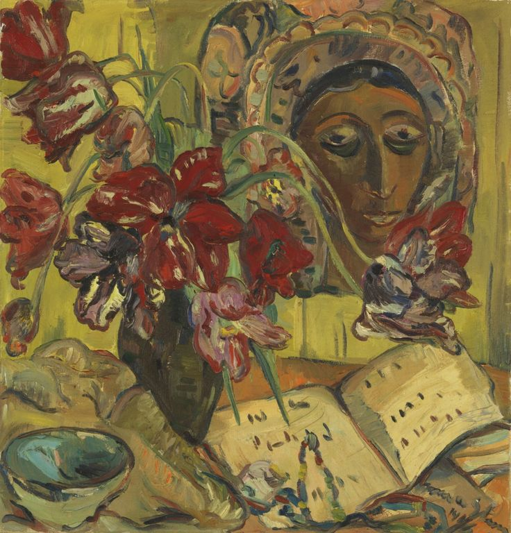 Irma Stern (South African, 1894-1966), Still life with a Mask, 1946.