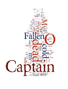 O Captain My Captain by Walt Whitman - FREE download with word cloud prints and poem analysis exercise.