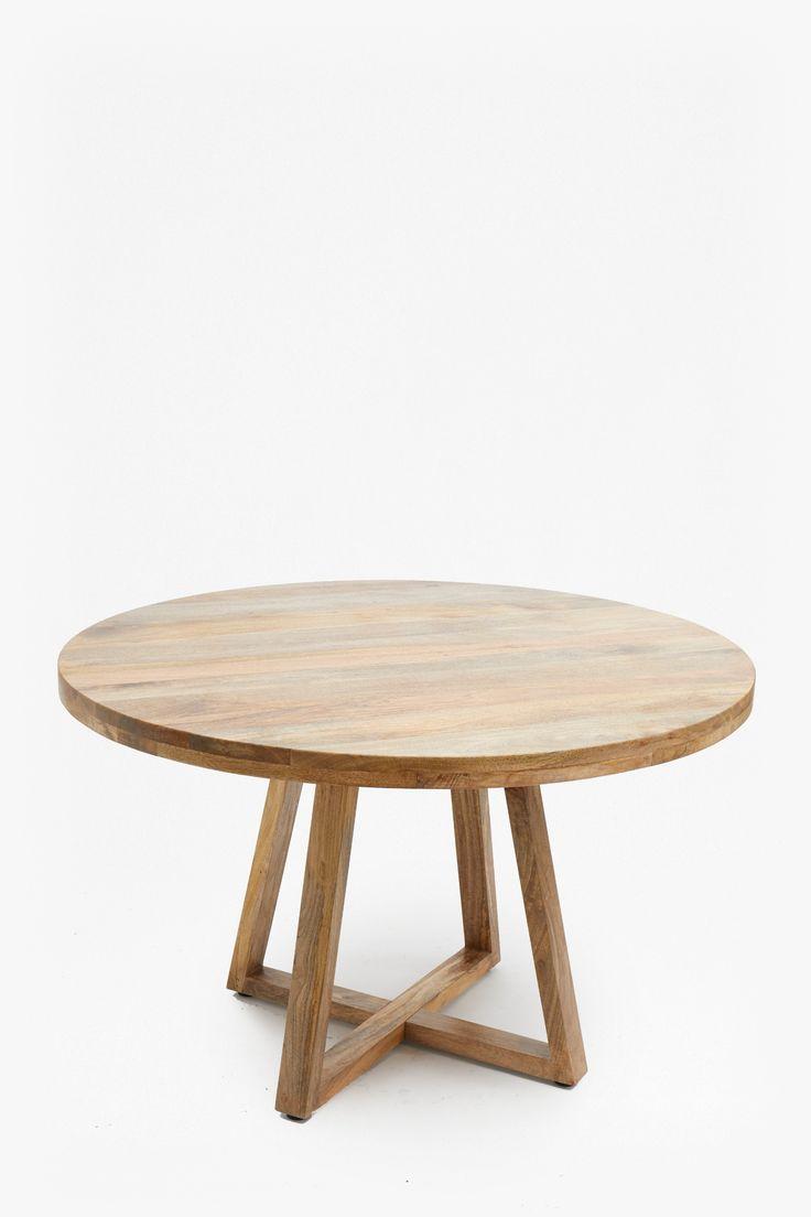 Round Wood Tablereclaimed Mango Woodheight 76cm Width
