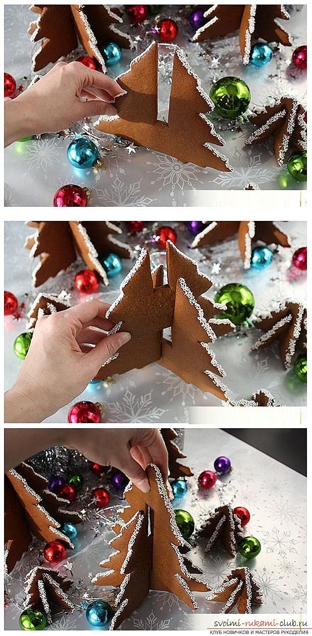 Как сделать елочные игрушки своими руками из теста, силиконового герметика, мандаринов и связать крючком и спицами, мастер классы с рецептами и фото. Фото №29