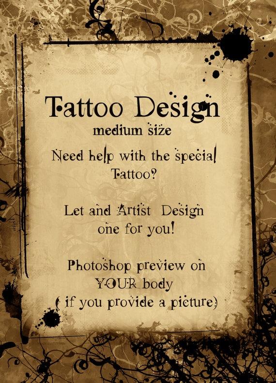 Medium Size Tattoo design by april martin on Etsy,
