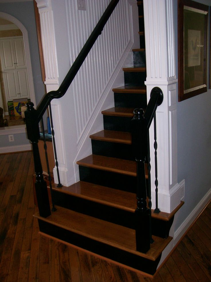 Painting the Risers and the Railing Lacquer Black...Adds a commanding appearance!