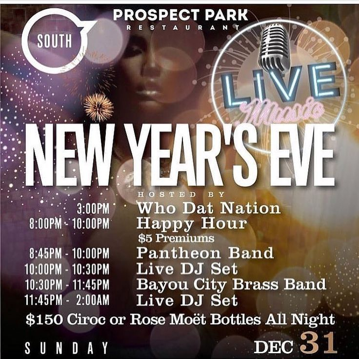 Plan Your #NewYearsEve With Us! We have WhoDat Nation Hosting For the Game Ealier Then Pantheon Band will Perform with The Brass Bayou Band After  We Have $150 bottle specials for Moët Rose or Any Flavor of Ciroc  ! Ticket link is in our bio and below:  https://www.eventbrite.com/e/new-years-eve-at-prospect-park-galleria-tickets-41435593977?aff=efbeventtix  #pokernight #thirstythursday #happyhour #tacos #tequila #tacosandtequila #patron #houston #houstonrestaurant #houstonsportsbar…
