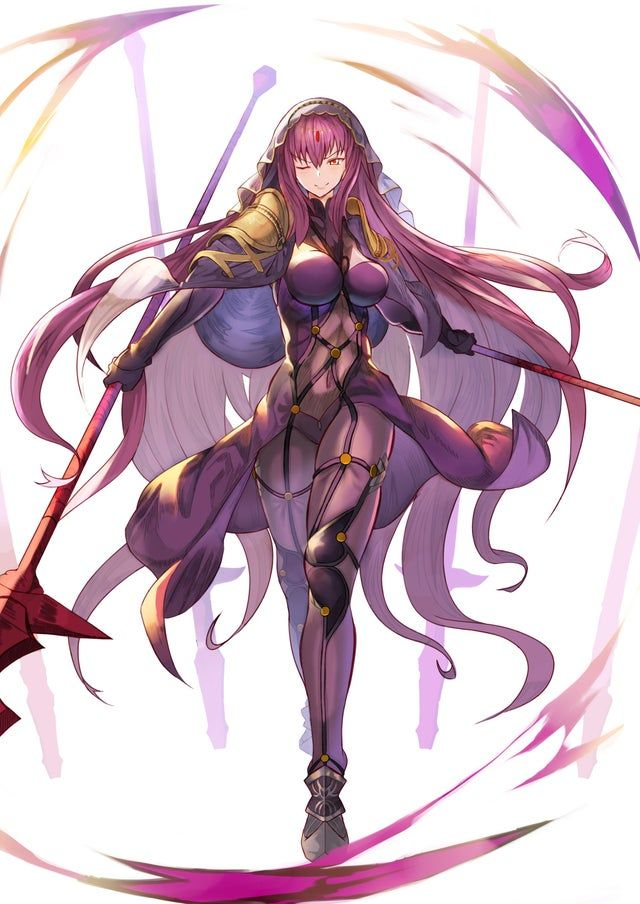 Mistress Of The Spear Scathach In 2020 Anime Fan Art Reverse Image Search