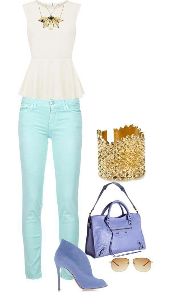 Outfit colores pasteles