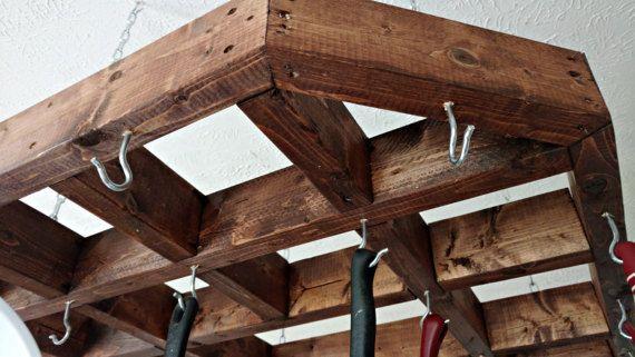 The 25 best pot rack hanging ideas on pinterest pot for Reclaimed wood pot rack