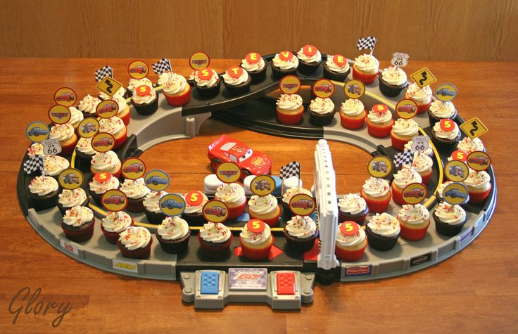 Cars cupcake displayer... I am SO doing this!
