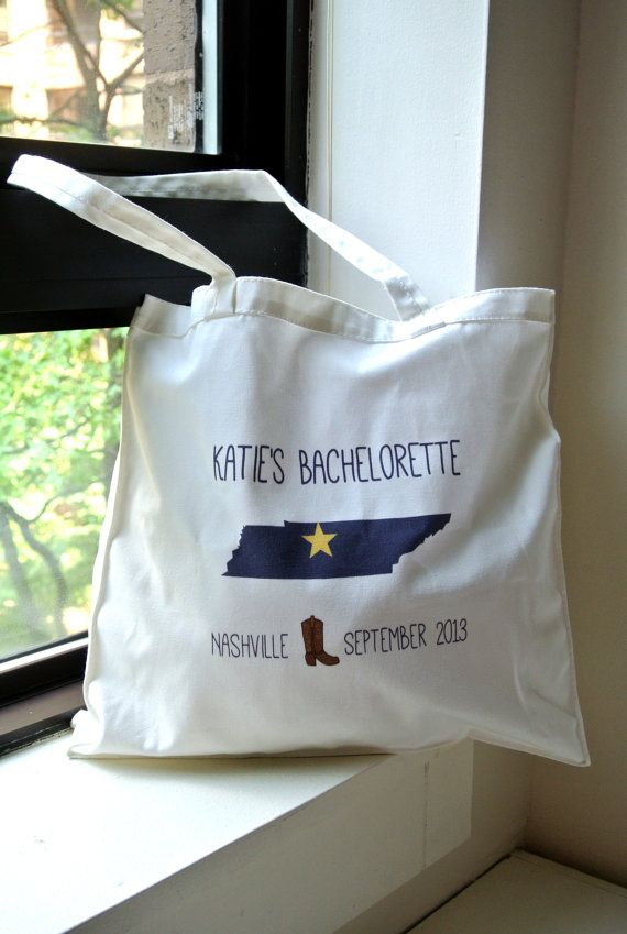 Country Western Bachelorette Party Totes, Bachlorette Party Totes, Bachelorette Gift, Bachelorette Party Favors -SET OF 5 Nashville