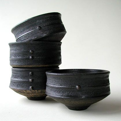 Ceramics by Jason Wason at Studiopottery.co.uk - Tea bowls 7cm high.