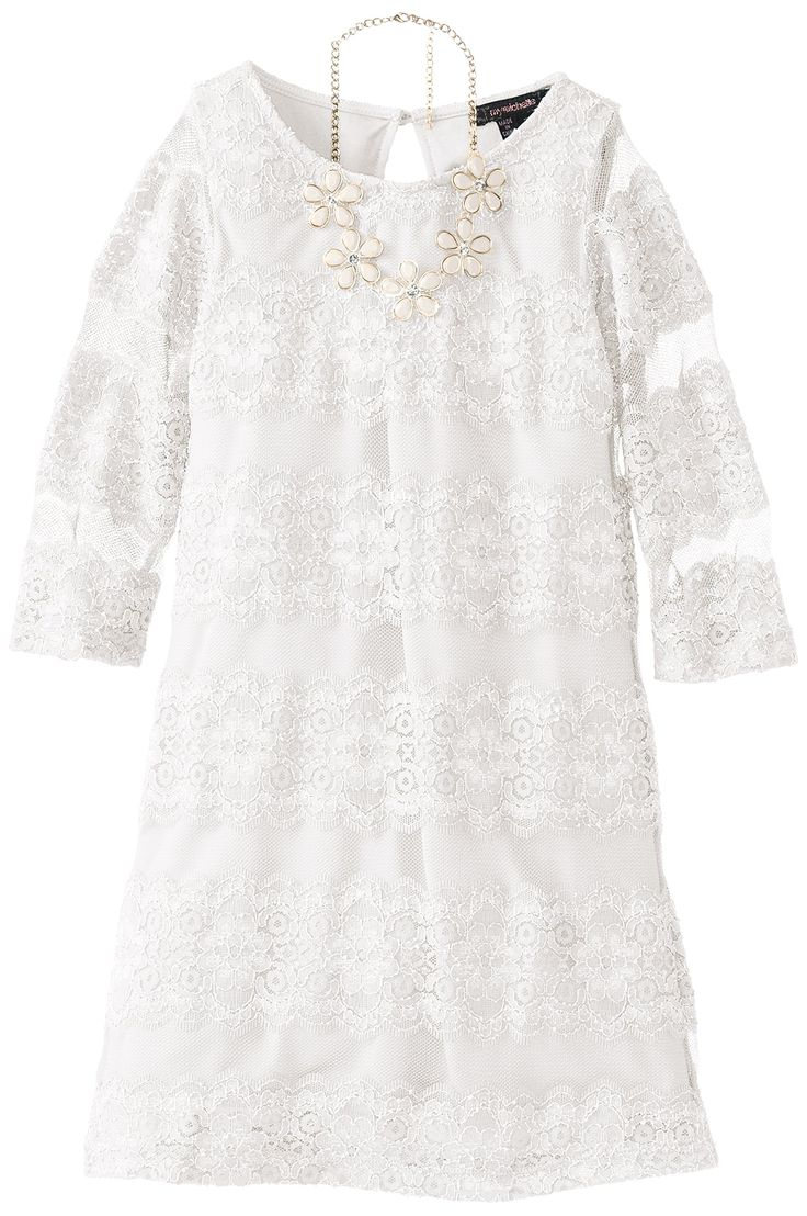 Amazon.com: My Michelle Big Girls' Lace Dress with Necklace: Clothing