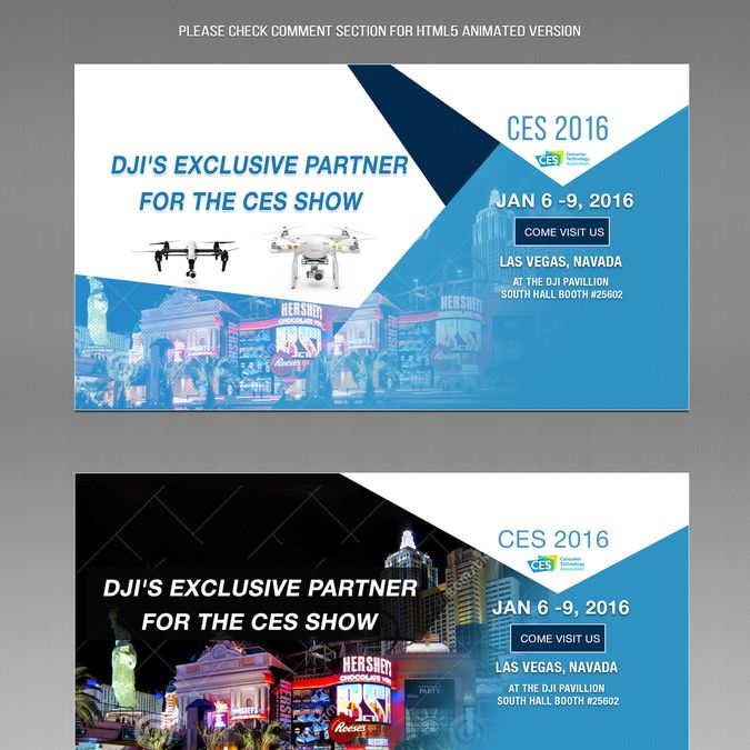 Design Clean Professional Eye Catching Banners for Drone E-Tailer by FlashPrime