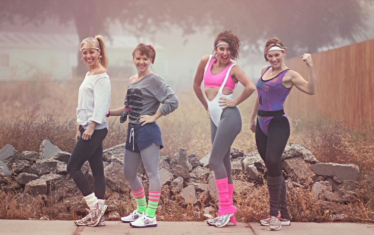 80s Workout clothes for our Diva Day 5k!