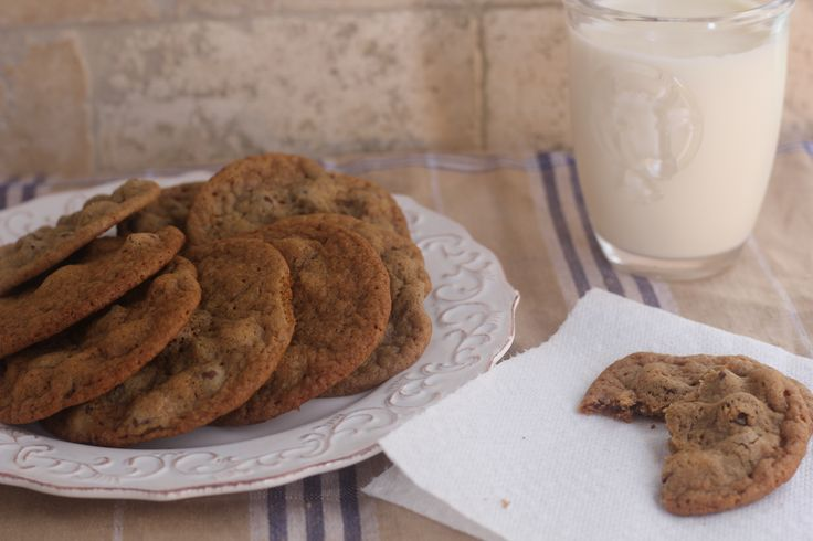 Mocha Chocolate Chip Cookies and a glass of eggnog to make your holidays a little sweeter.