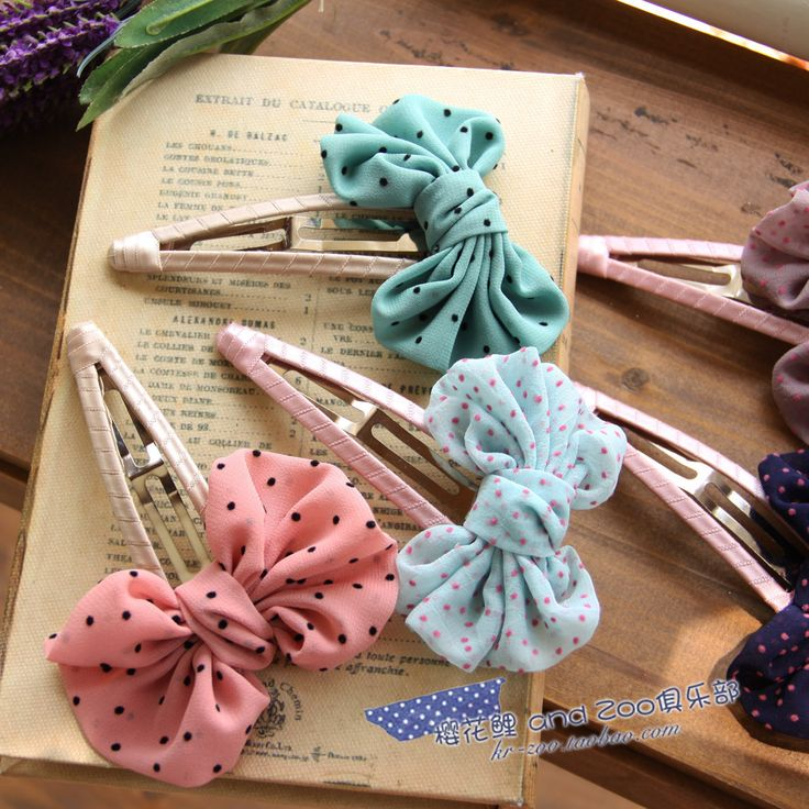 vintage hair clips! I think I would put it on bobby pins instead. Hair fashion for my daughter.