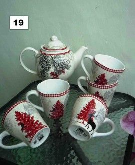 christmast tea set