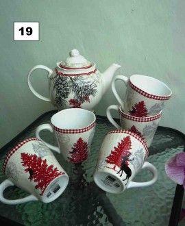 christmast tea set