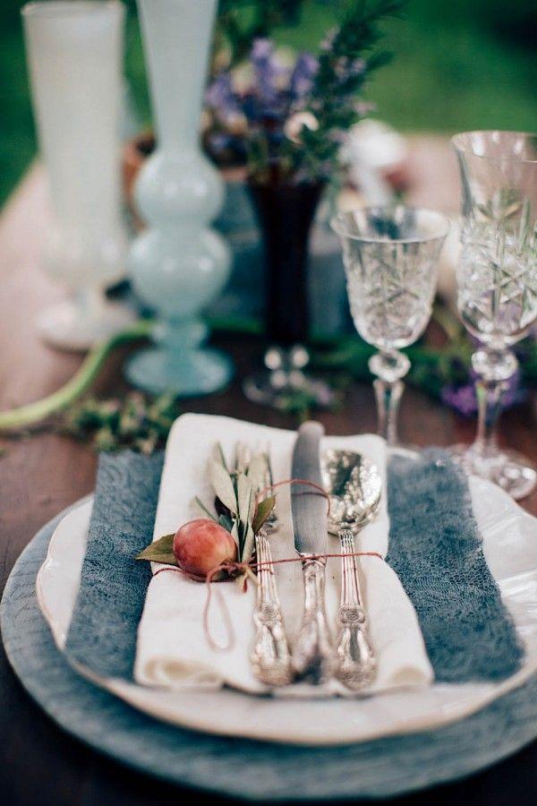rustic wedding reception tabletop idea