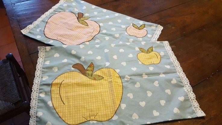 Tovagliette stoffa cucito per colazione pranzo cena pic nic idea regalo!!