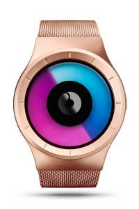 ZIIIRO Celeste rose gold purple watch (front)