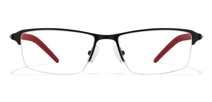 Buy Idee 1370 Black Red C2 Eyeglasses #Ideeeyeglasses #rectangleEyeglassess #Opticvilla