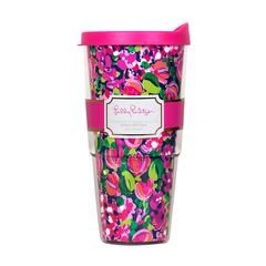 Lilly Pulitzer Insulated Tumbler with Lid, Wild Confetti