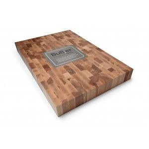 Hakblok beuken kops 60x40x6 cm Butler Met dit hakblok voel je je een professionele kok. Het blok is maar liefst 6 cm dik en ligt zeer stevig op je aanrecht. Het is te gebruiken voor het meest uiteenlopende snij- en hakwerk. € 99,-