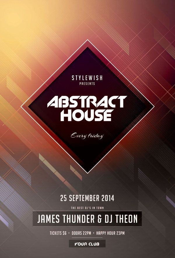 Abstract House Flyer by styleWish (Buy PSD file - $6)