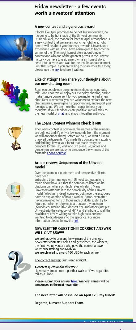 Uinvest Friday Newsletter